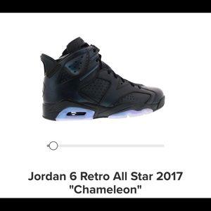 """Jordan 6 Retro All Star 2017 """"Chameleon"""" size 12"""